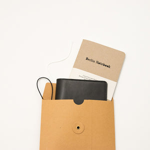 Leather Notebook Cover Blue + 2-pack of the original Berlin Notebook gift set