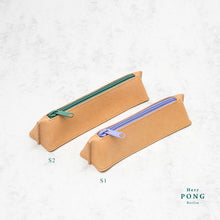 Load image into Gallery viewer, Kayak Collection - Vegetable Tanned Leather Pencil Case S2