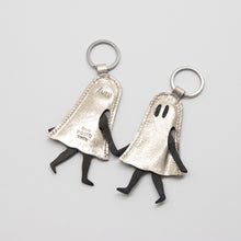 Load image into Gallery viewer, *SILVER EDITION* Little Ghost Leather Keychain with Midnight Print