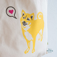 Load image into Gallery viewer, Shiba Inu Doggy ❤️  Organic Cotton Tote Bag
