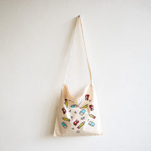Load image into Gallery viewer, Stationery Silk Screen Print on Light Cotton Crossbody Bag