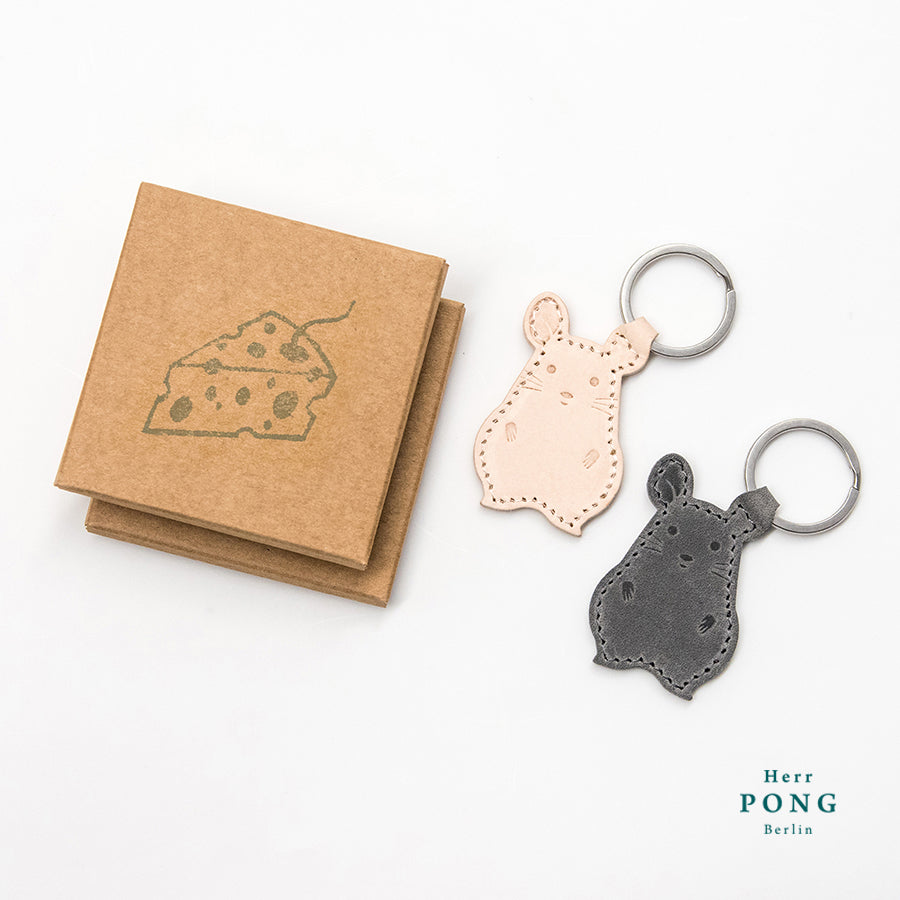 Little Twin Mouse Keychain Pair