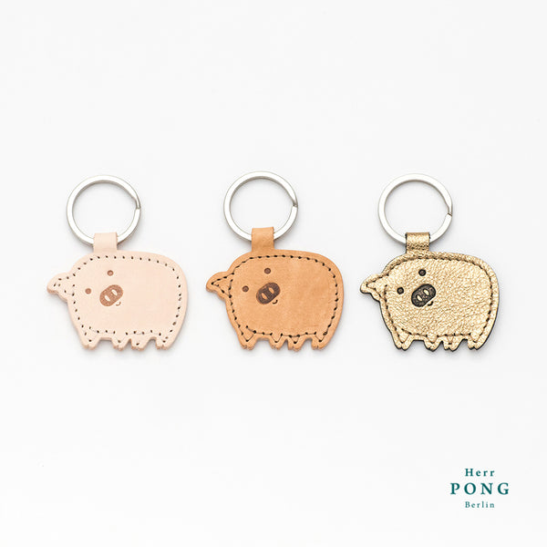 Golden Piggy Keychain