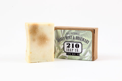 210 Soap Co. Honeyed Mint and Rosemary Soap 4.5oz