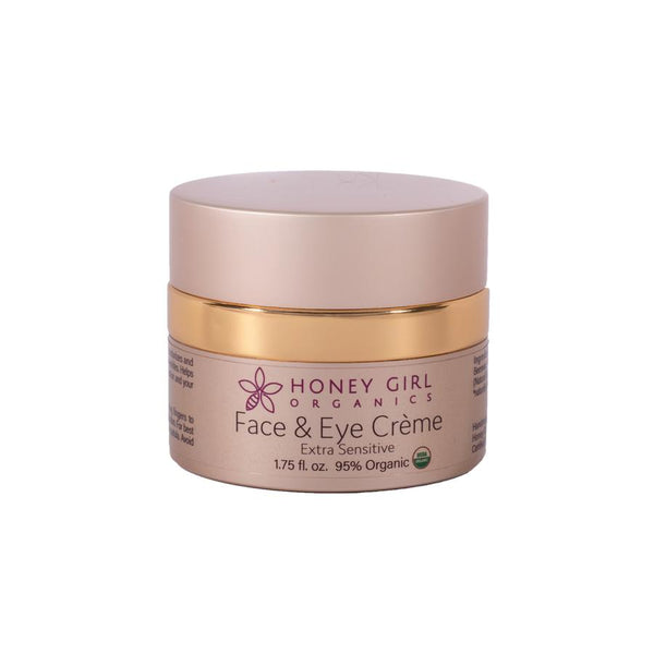 "Honey Girl Organics Face & Eye Crème 1.75oz ""Extra Sensitive"""