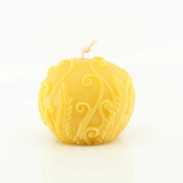 Fern Ball 100% Pure Beeswax Candle