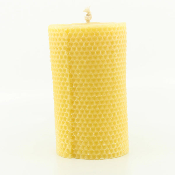 Tall Rolled Pillar 100% Pure Beeswax