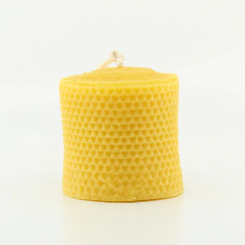 Short Rolled Pillar 100% Pure Beeswax