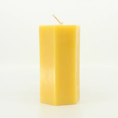 Tall Hex Candle 100% Pure Beeswax