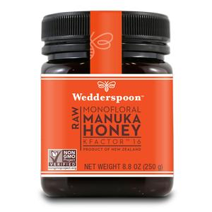Wedderspoon Organics Raw Monofloral Manuka Honey KFactor 16  8.8 oz