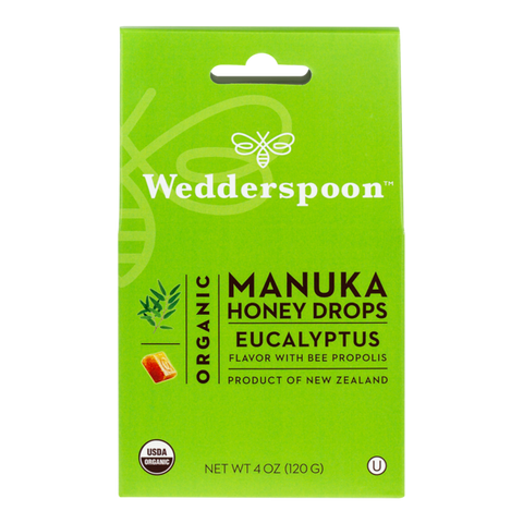 Wedderspoon Organics  Manuka Honey Lozenges Eucalyptus