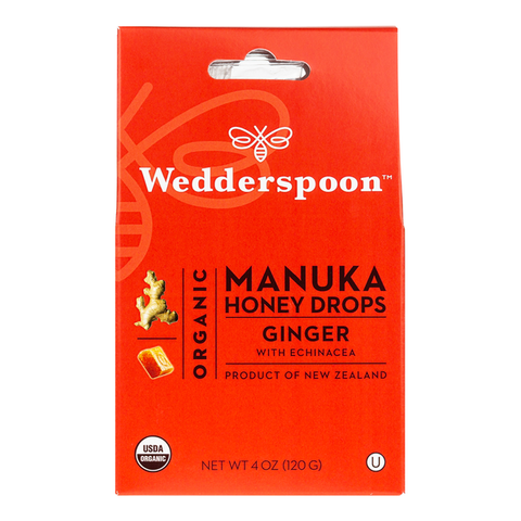 Wedderspoon Organics  Manuka Honey Lozenges Ginger