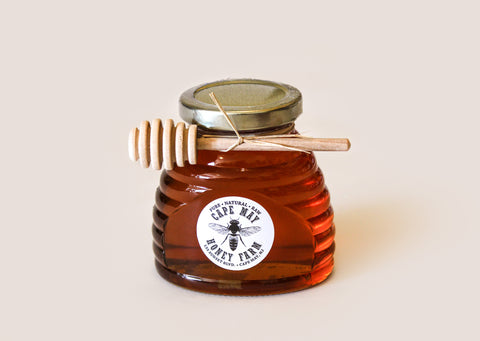 Cape May Wildflower Honey Skep Jar with Maple Dipper 12oz