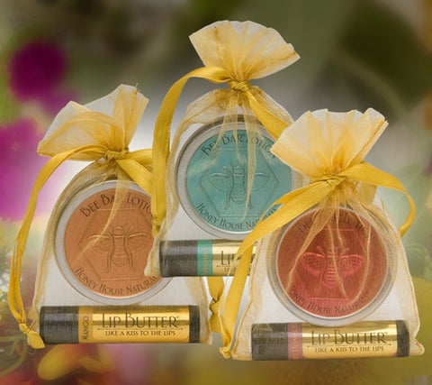 Lotion Bar and Lip Balm Gift Set by Honey House Naturals