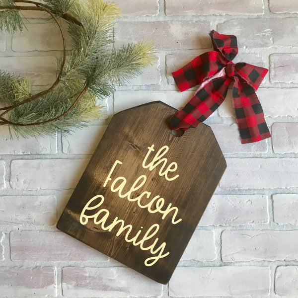 Christmas wood sign personalized