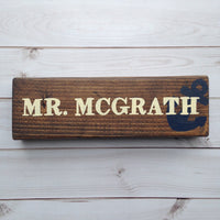 anchor male teacher name plate