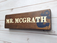 decorative name plate