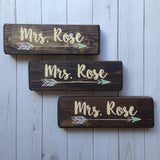 boho arrow teacher desk signs