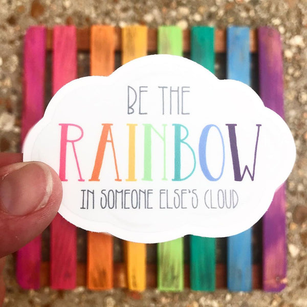 Be the rainbow cloud vinyl stickers