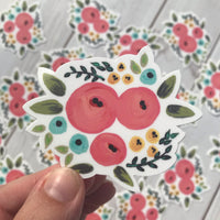 Colorful Floral Vinyl Sticker Decal
