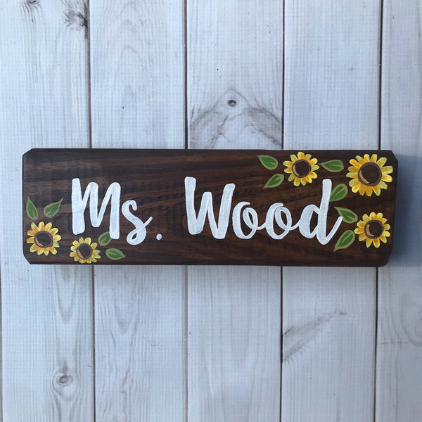 sunflower desk sign