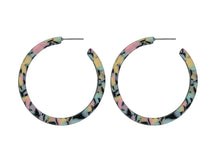 Load image into Gallery viewer, These larger style hoops are available in three colour mixes. This is the pink mix.