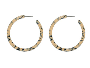 These larger style hoops are available in three colour mixes. This is the cream mix