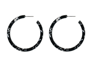 These larger style hoops are available in three colour mixes. This is the black mix
