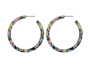 These larger style hoops are available in three colour mixes. This is the pink mix.