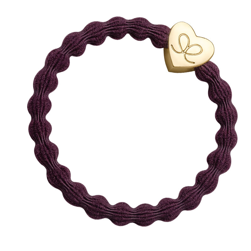 Gold Heart - Plum