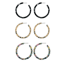 Load image into Gallery viewer, Charlotte Resin Hoop Earrings