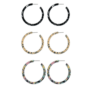 Charlotte Resin Hoop Earrings
