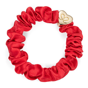 Gold Heart - Red Scrunchie