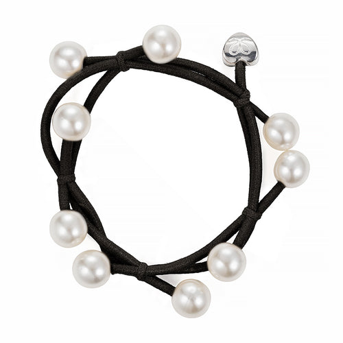 Pearl cluster band - Black