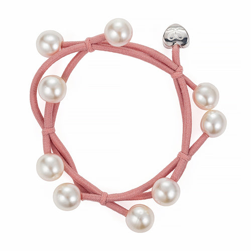Pearl cluster band - Champagne Pink