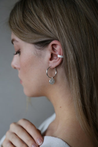 Breathe Silver Ear Cuff