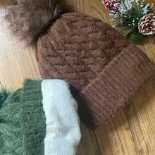 Load image into Gallery viewer, Pom Pom Hat - Brown