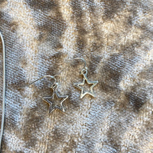 Load image into Gallery viewer, Star Drop Earrings (Silver)
