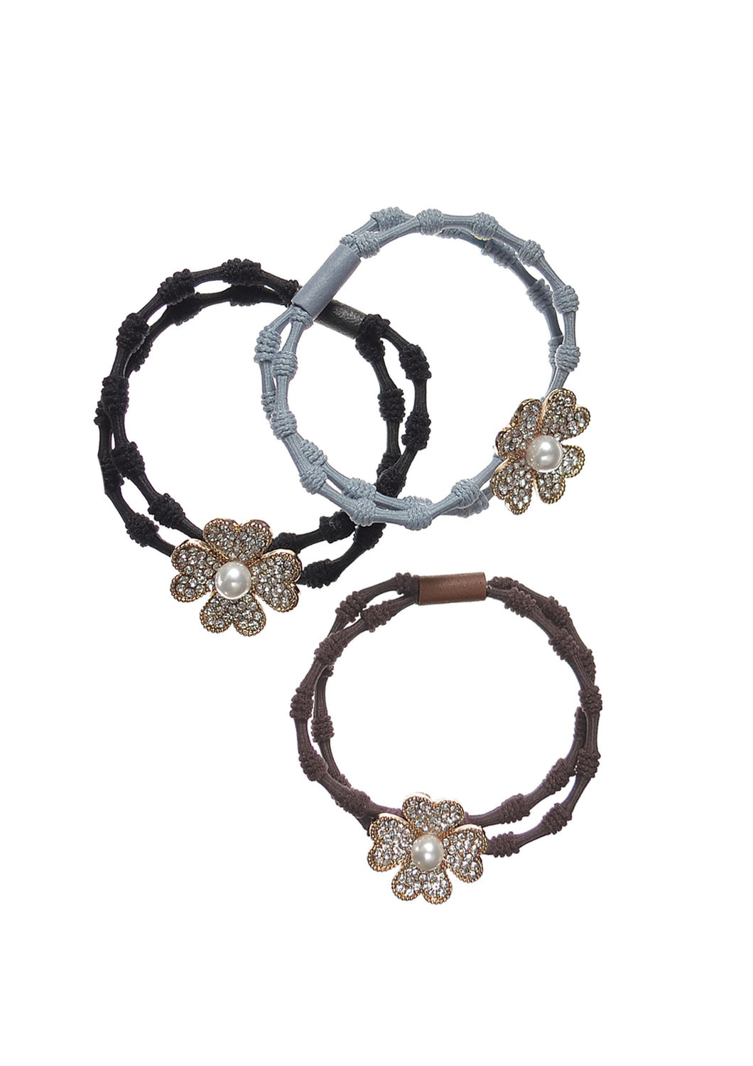 Flower bracelet bands with pearl detailing