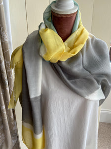 Colour Block Scarf - Yellow
