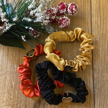 Load image into Gallery viewer, Gold Heart - Red Scrunchie