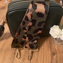 Load image into Gallery viewer, Cheetah Khaki & Bronze Bag Strap