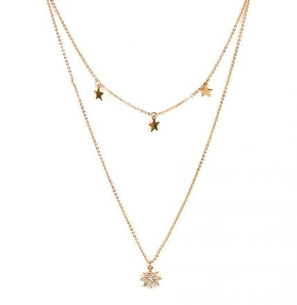 Sienna Layered Necklace Gold