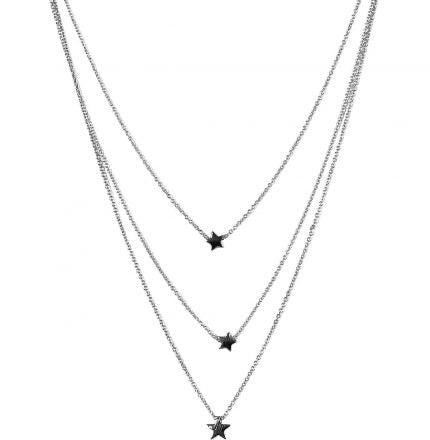 Estelle Layered Necklace Silver