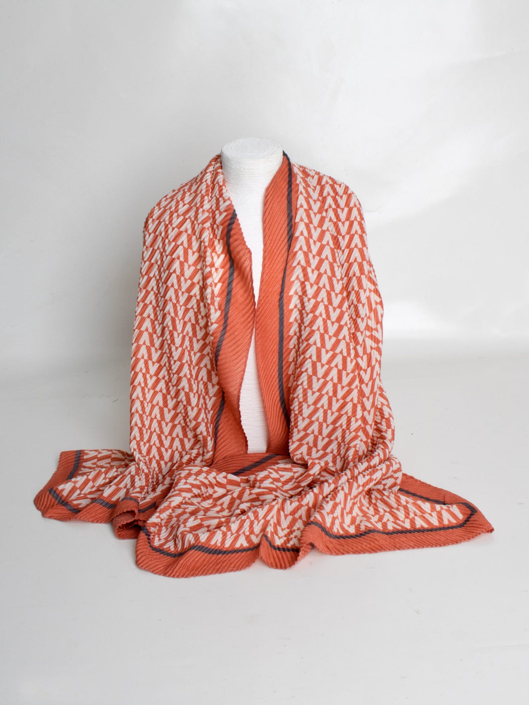 Crepe Effect Scarf-Pink