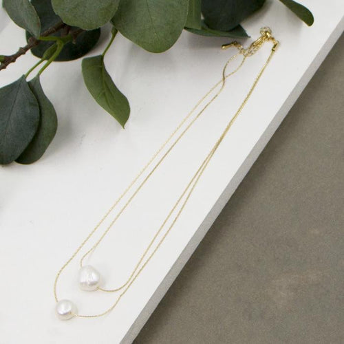 Double layer Pearl Necklace