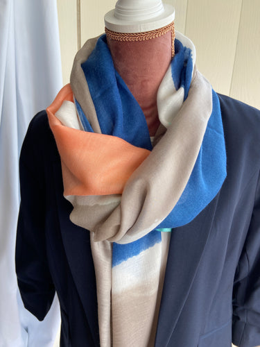 Colour Block Scarf - Camel