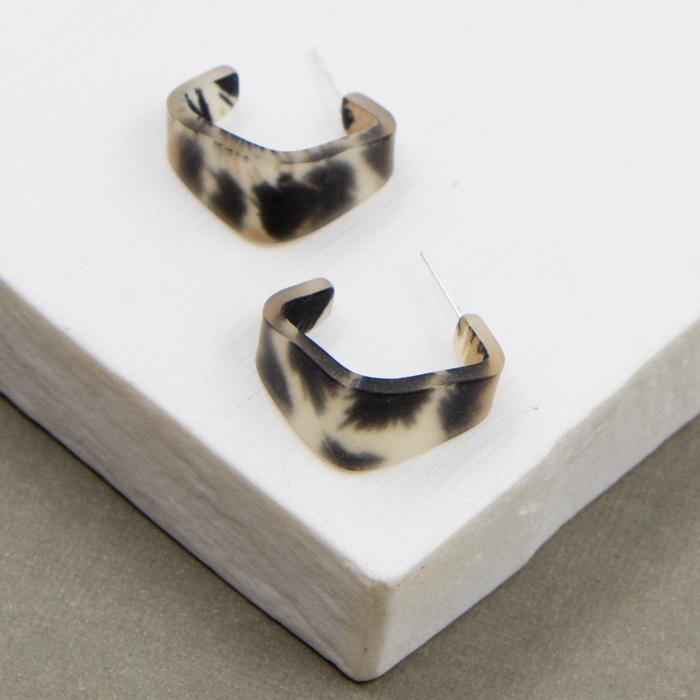 Small Square Animal Hoops