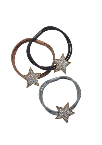 Star bracelet bands with pearl detailing