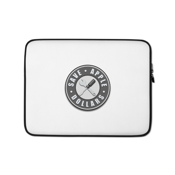 Save Apple Dollars Laptop Sleeve